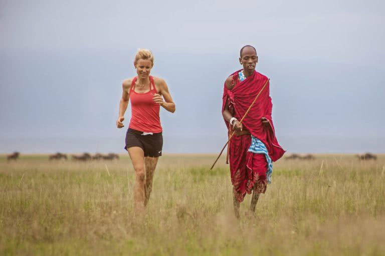 Running con i Maasai